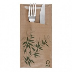 Sachet Couverts Serviette Feel Green