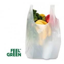 Sacs bretelles blanc biodégradables 20, 22,5 L