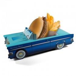 Boite menu enfant Cadillac Bleue