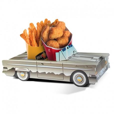 Boite menu enfant Cadillac gris chrome