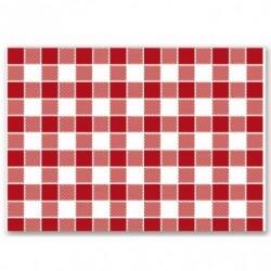 Set de table - Quadrillé rouge