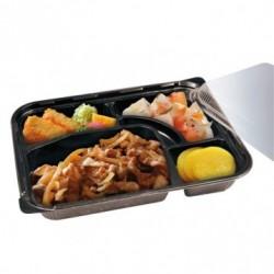 Coffret repas noir - 4 compartiments