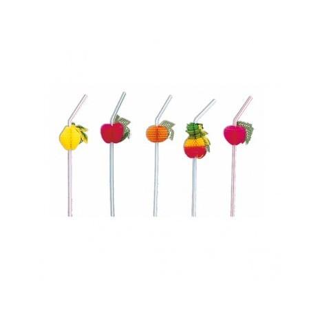 Pailles flexibles - Fruits