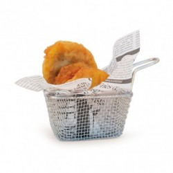 Mini friteuse inox 1 portion