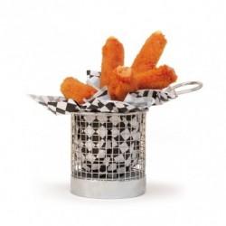 Mini friteuse inox ronde