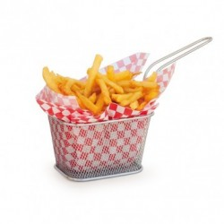 Mini friteuse inox carrée