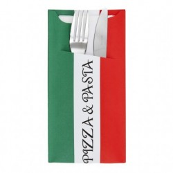 Sachet Couverts Serviette Pizza Pasta (x200)