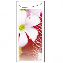 Sachet Couverts Serviette Fleurs