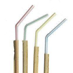 Paille flexible rayé sous sachet kraft (x10000)