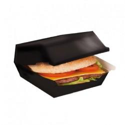 Boîte burger géante Noire (x300) - Taille : 22,5 x 18 x 9 cm