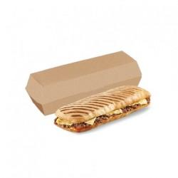 Boîte Panini Kraft (x300)  - Taille : 26 x 12 x 7 cm