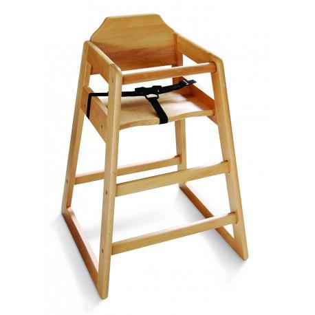 Chaise haute enfant bois