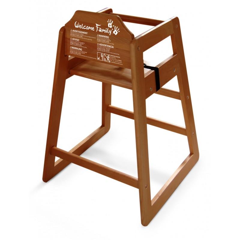 Chaise haute bois fonc equipements enfant accueil enfant for Chaise enfant bois