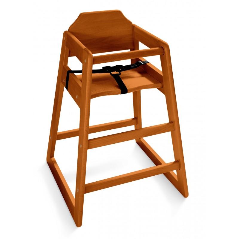 chaise haute bois fonc equipements enfant accueil enfant. Black Bedroom Furniture Sets. Home Design Ideas