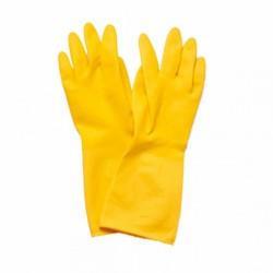 Gants jaunes en latex épais (x24)