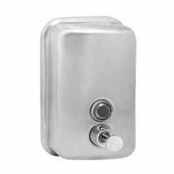 Distributeur de savon argenté pour mains