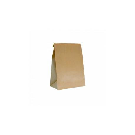 Sacs kraft sans anses (x500) -  Taille : 20 + 9 x 34,5 cm