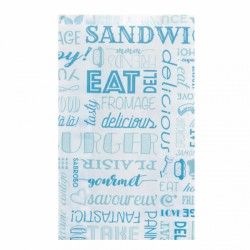 Sachet Burger et Hot dog Parole (x500) - Taille : 12 + 7 x 18 cm