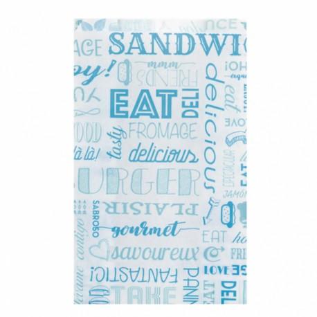 Sachets burgers et hot dog (x500) - Taille : 12 + 7 x 18 cm