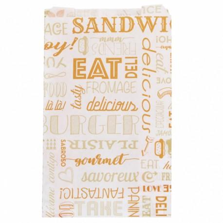 Sachets burgers et hot dogs (x500) - Taille : 14 + 7 x 22 cm