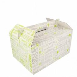 Boîte pour repas à emporter avec anses Parole (x100)