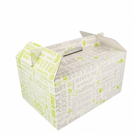 Boîtes pour repas à emporter avec anses (x100)