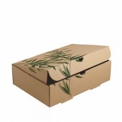 Boîte automontable pour repas (x100) - Taille : 26 x 18 x 7 cm