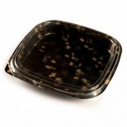 Boîte Plastique carré pour sushis (x120) - Taille 27,3 x 27,3 x 4,5 cm