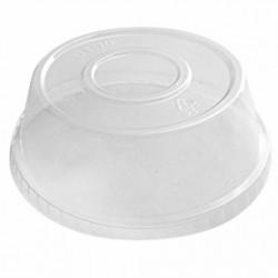 Couvercle haut pour pot en plastique à glaces (x1000)