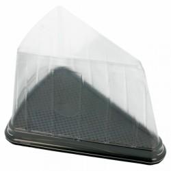 Boîte pâtisserie en plastique triangulaire (x300) - Taille : 12,4 x 8,75 x 8,2