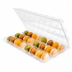 Boîte plastique pour 24 macarons (x50) - Taille : 20 x 30 x 5 cm