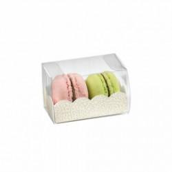 Etui plastique avec base en carton pour macarons (x200)