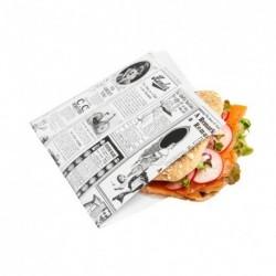 Sachet ouvert Burger Times (x500) - Taille : 16 x 16,5 cm