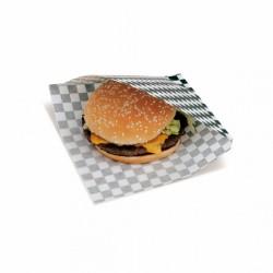 Sachet ouvert Burger Quadrillés (x500) - Taille : 16 x 16,5 cm