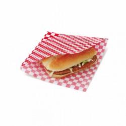 Sachet ouvert Burger Quadrillés (x500) - 16 x 16,5 cm