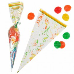 Sachets triangulaires (x100) - Taille 20 x 39,5 cm