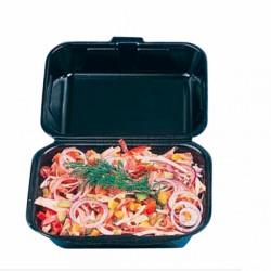 Lunchbox noire Foam (x500) - Taille : 18,5 x 15,5 x 7 cm