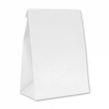 Sac blanc sans anses  (x500) - Taille : 20 + 9 x 34,5 cm