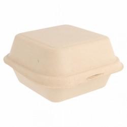 Boîte burger en Canne à sucre Carrée (x600) - Taille : 15,2 x 15 x 8,2 cm