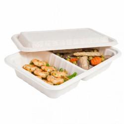 Boîte Repas avec couvercle - (x500) : Taille : 800 ml