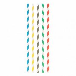 Paille droite à franges en papier (x 1000) - Ø 0,60x20 CM