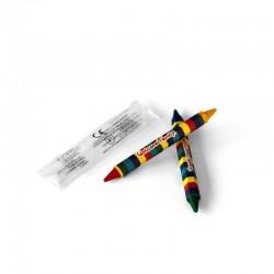 Sachet 2 crayons cire double têtes, cadeau surprise menu enfant