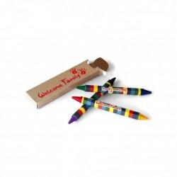 Boîte de 3 crayons pastel double têtes, cadeau surprise enfant