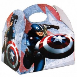 Boîte menu enfant Captain America (x72)