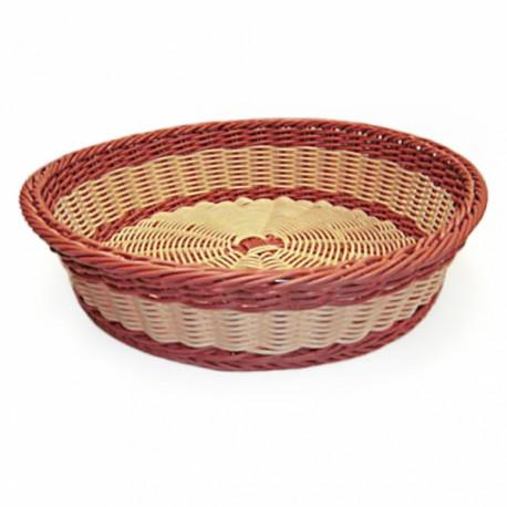 Corbeille bicolore (x1) - Accessoire pour les boulangeries, restaurants