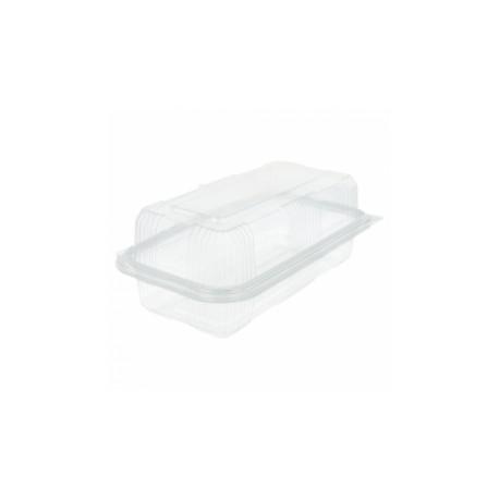 Boîte pâtisserie en plastique rectangulaire (x1000)