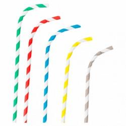 Pailles Flexibles A Franges (x250)