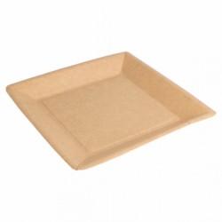 Assiettes Carrées Bio-Laquées Carton (x400)