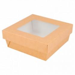 Petites boîtes avec couvercle à fenêtre 500 ML (x250)