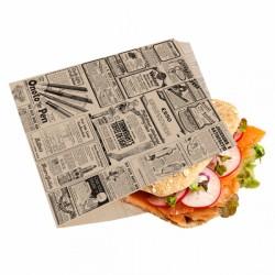 Sachet ouvert Burger Times (x500) - 16 x 16,5 cm